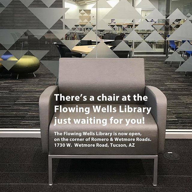 Theres A Chair Just Waiting For You At The Flowing Wells Library The Flowing Wells Library Is Now Open Its On The Corner Library Pima County Waiting For You