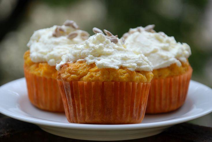 Mrkvové muffiny s tvarohem