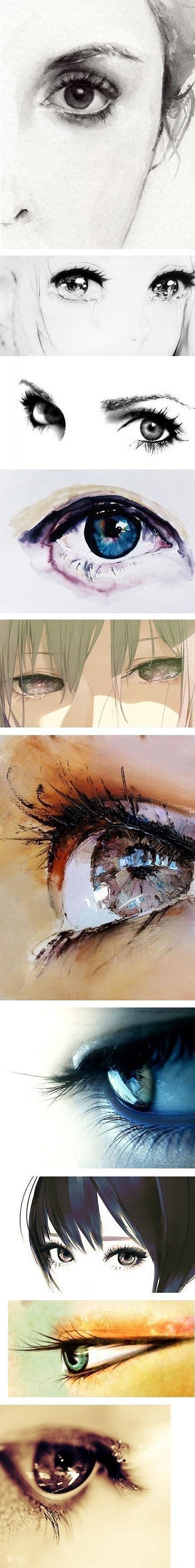 插画手绘 一个眼神,一段感情,一个梦。