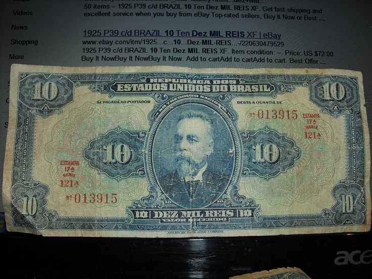 Some old money from Brazil