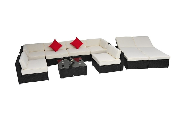 pc Outdoor Patio Rattan Wicker Sofa Sectional  Chaise Lou