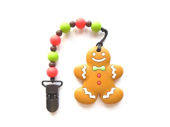 Gingerbread Man Teething Toy Silicone Teething Toy Teether