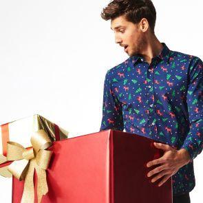 Koszula w świąteczny wzór