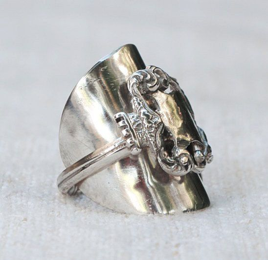 SPOON RING:  King Lancelot's Sterling Silver by HelenSilverSmit