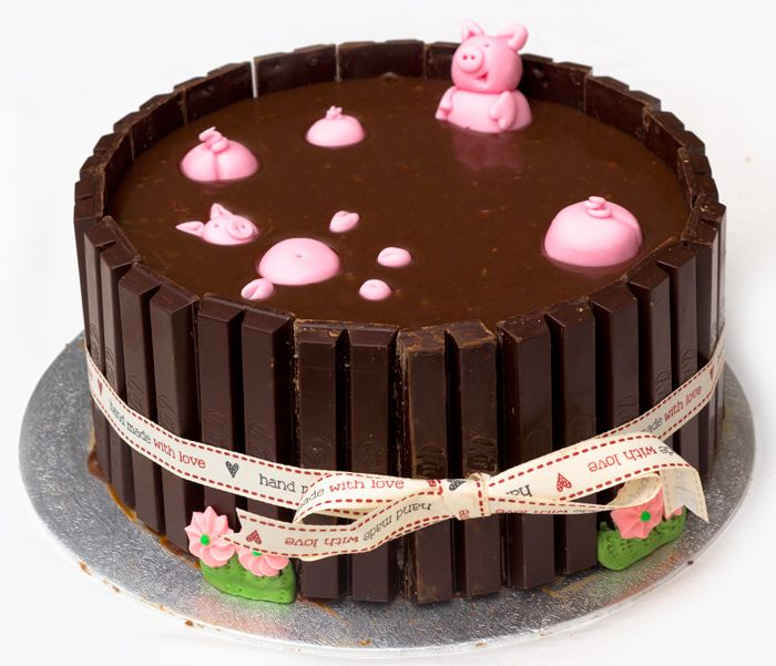 Pigs in mud cake mississippi mud cake recipe with kit for Cake recipe ideas uk