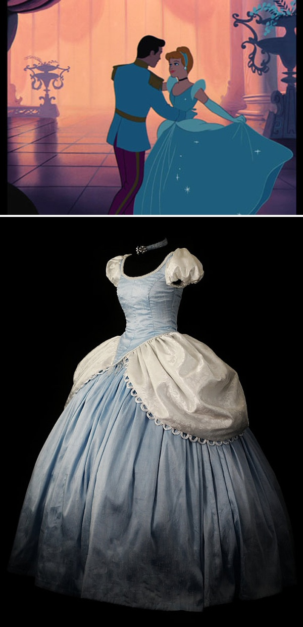 Cinderella's dress. Wow! What about the sparkles, though? ;)