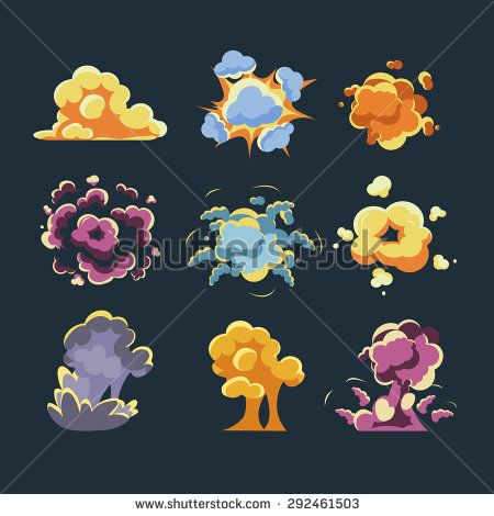 Cartoon comic explosion vector illustration