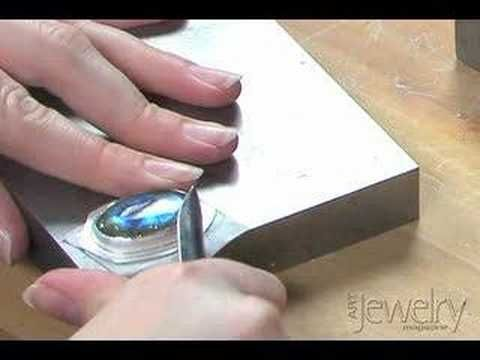 Art Jewelry - Setting a cabochon in a bezel part 3