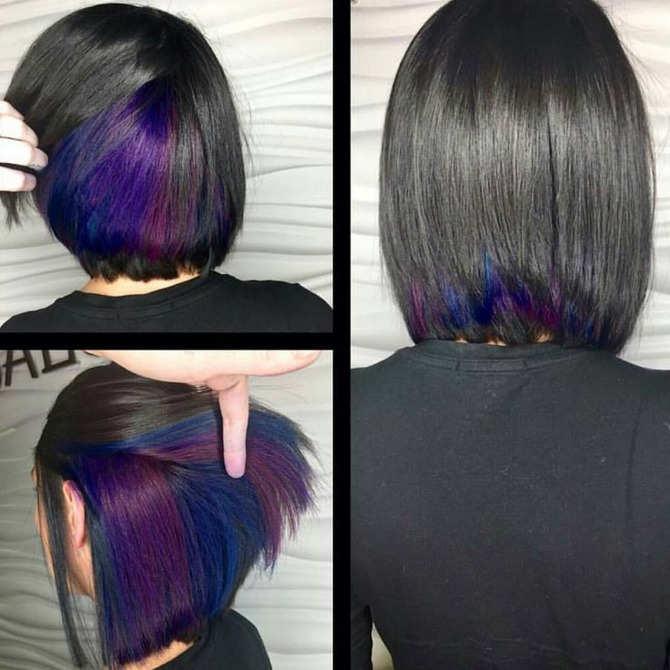 "behindthechair.com on Instagram: ""Peek-a-blue... seen at @reignsalonandspa by Desiree/ @dezibunny #behindthechair #galaxycolors #vibranthair"""