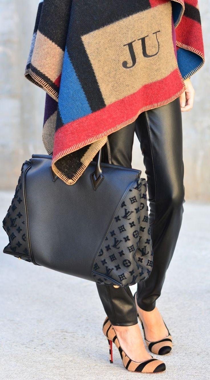 Louis Vuitton Black Chic Tote by Divina Se Nace