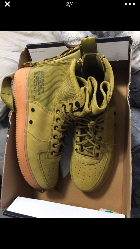 385226b500bc50 Nike SF AF1 MID Air Force 1 Suede Desert Moss Green Gum 917753-301 Size  10.5  fashion  clothing  shoes  accessories  mensshoes  athleticshoes (ebay  link)