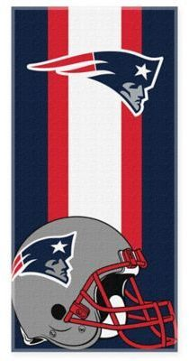 $14.99 - NFL New England Patriots Beach Towel - Show your team pride while at the beach or the pool this soft NFL Beach Towel. Features your favorite team's colors, logo and helmet. Super soft and luxurious, this towel makes the perfect accompaniment on for any summertime activity.