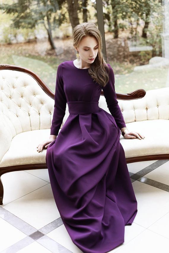 23+ Dark purple dress information