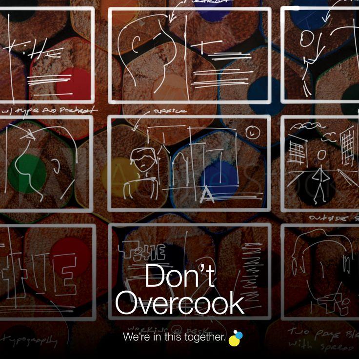 Don't Overcook Blogs | teamofcreatives