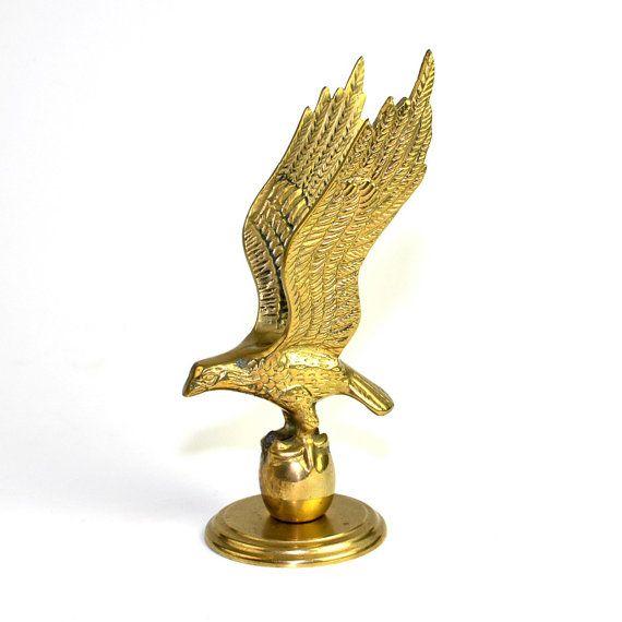 Brass Eagle Statue