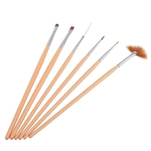 6PCS Nail Art Design Pen Set Painting Dotting Brush Kit Tool