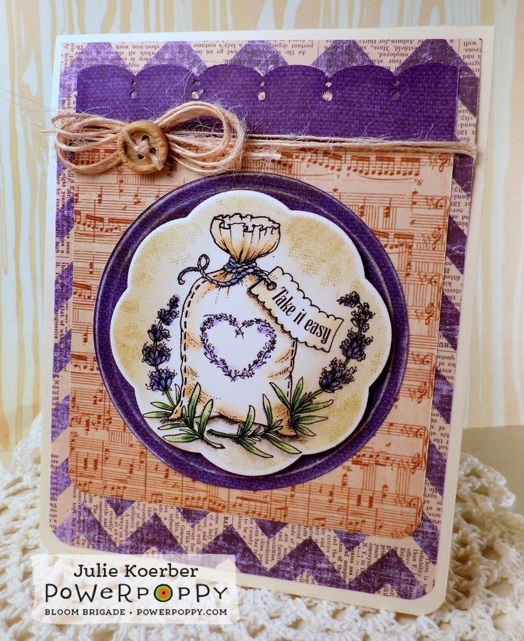 Out To Impress: 3 Cards, 1 Stamp -- part 3! Uses Lavender Stamp Set by Power Poppy!