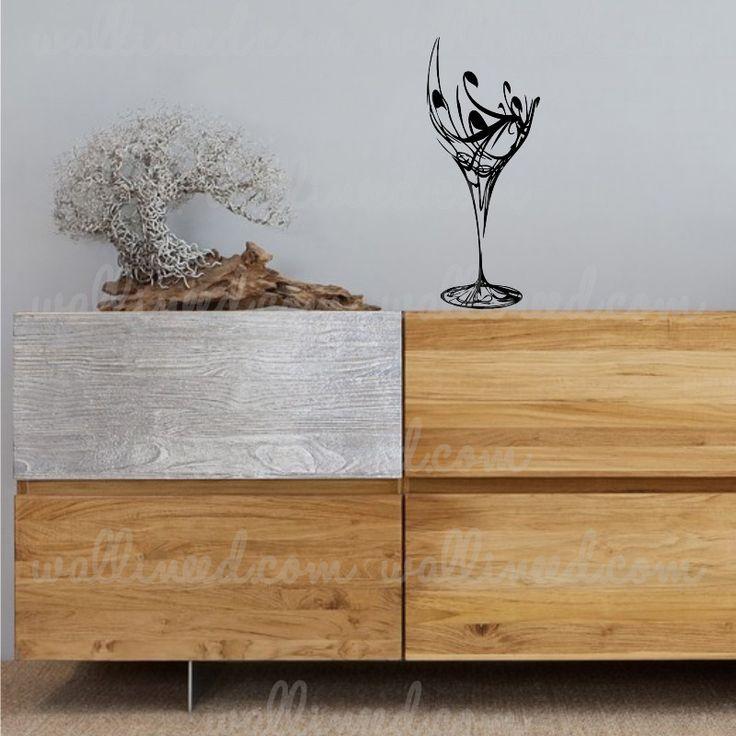 Elegant Wine Glass – Wall Decal