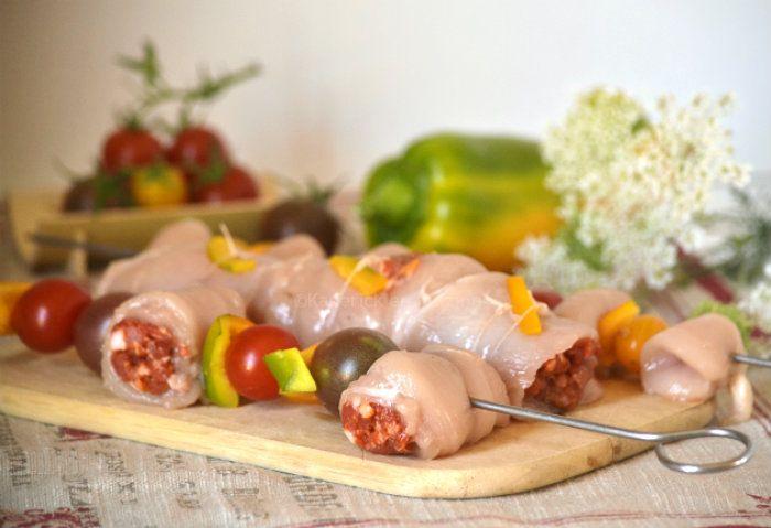 Recette plancha avec du poulet au chorizo en rôti ou en brochette sur Kaderick en Kuizinn©