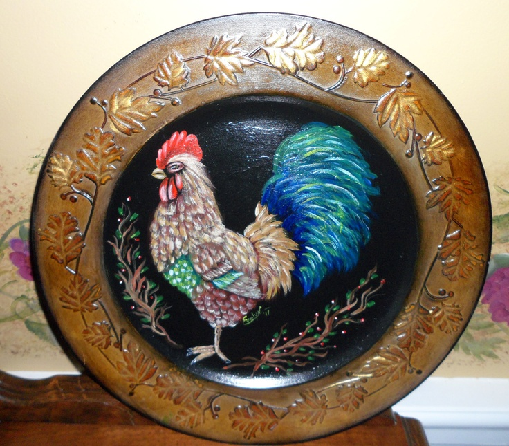 Handmade Ceramic Platter In Coastal Kitchen: 1000+ Ideas About Rooster Plates On Pinterest