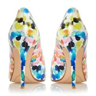 DUNE LADIES BLOSOME - Multi Coloured Bubble Print Court Shoe - multi | Dune Shoes Online