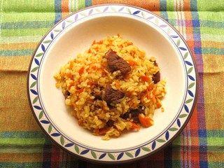 Uzbekistan food Plov Плов