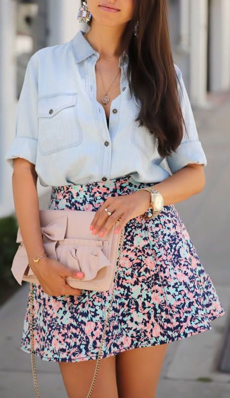 Floral & Chambray ♥ SO Pretty!