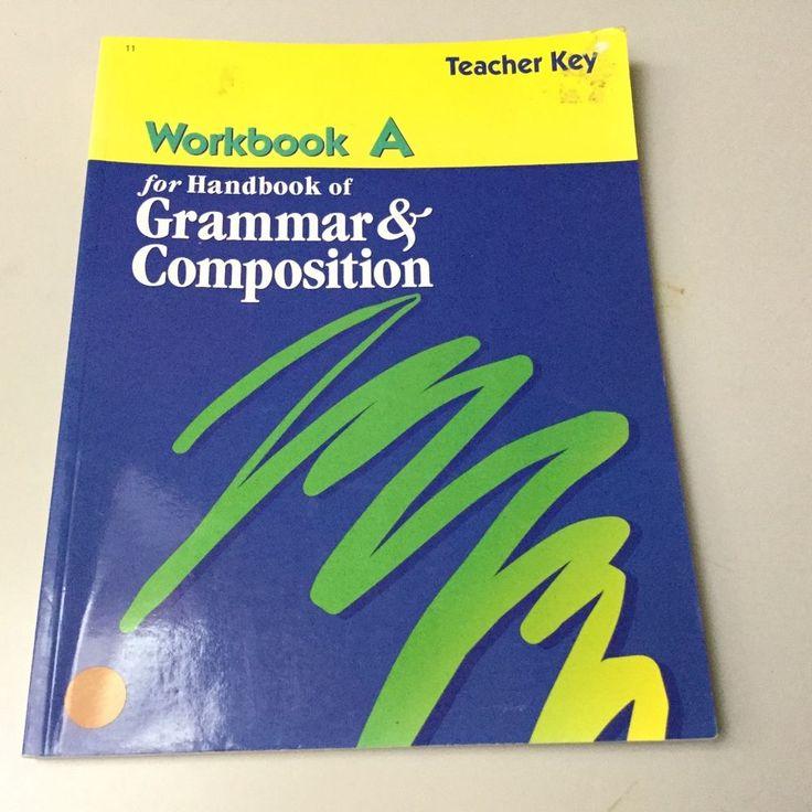 28 best ilanguage images on pinterest language speech and a beka workbook a teacher key handbook of grammar and composition fandeluxe Images