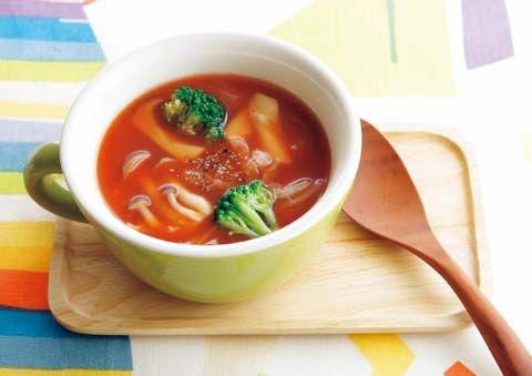 きのこトマトスープ   レシピ   ダイエット、レシピ、運動のことならフィッテ   FYTTE