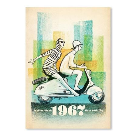 ACHICA | 1967 Scooter Girls by Joel Anderson, Gallary Print, Choose Size