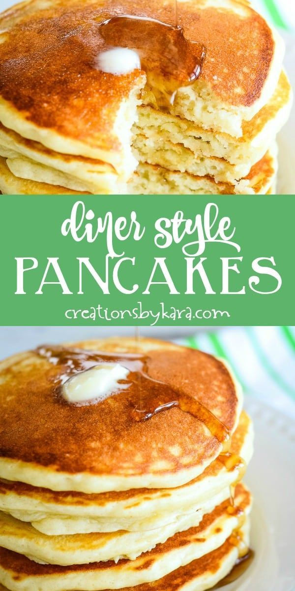 Diner Style Pancake recipe - these soft and fluffy pancakes are a perfect addition to any brunch or breakfast table. Malted milk powder gives them inc...