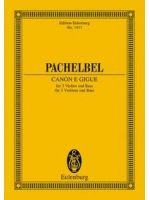 PACHELBEL J. - CANON E GIGUE - € 9,50 Viool klassiek, Zakpartituur, EULENBURG ETP1411