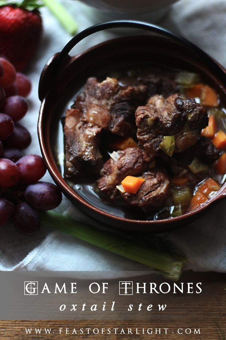 Oxtail soup for the Game of Thrones series, A Song of Ice and Fire. #GameofThrones