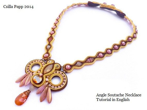TUTORIAL ONLY Angel Necklace Soutache Tutorial in by CsillaPapp