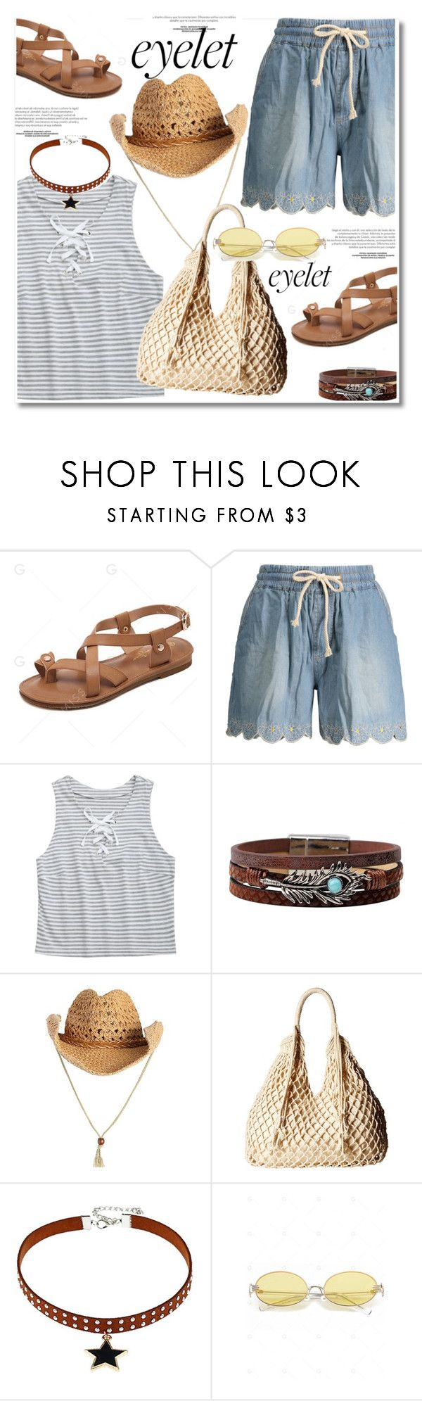 """""""Peek-A-Boo: Eyelet"""" by paculi ❤ liked on Polyvore featuring Scully and eyelet"""