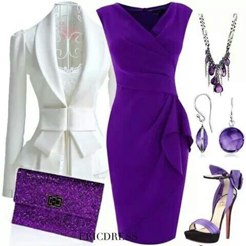 ◆Pinned specifically for the only item that isn't purple...the jacket! :P But the dress and shoes are great, too! I promise! :D - Cass◆