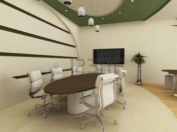 cielo raso: Mesa y sillas en el interior de la Conferencia. Oficina.