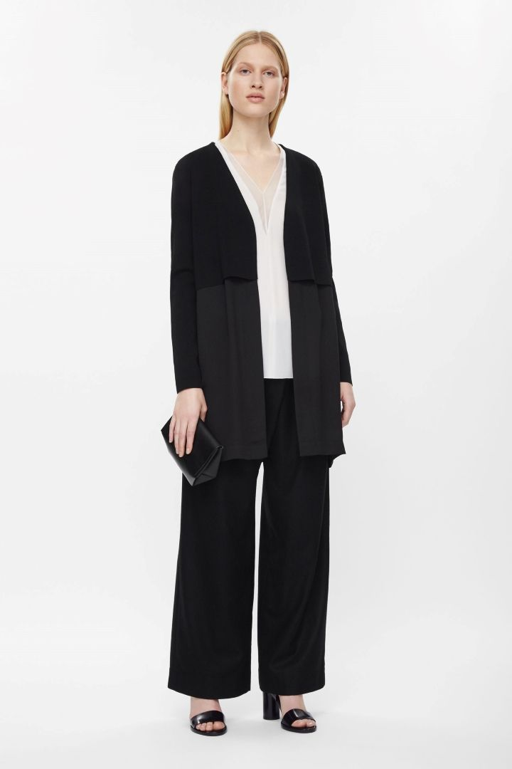 COS | Open-front layered cardigan