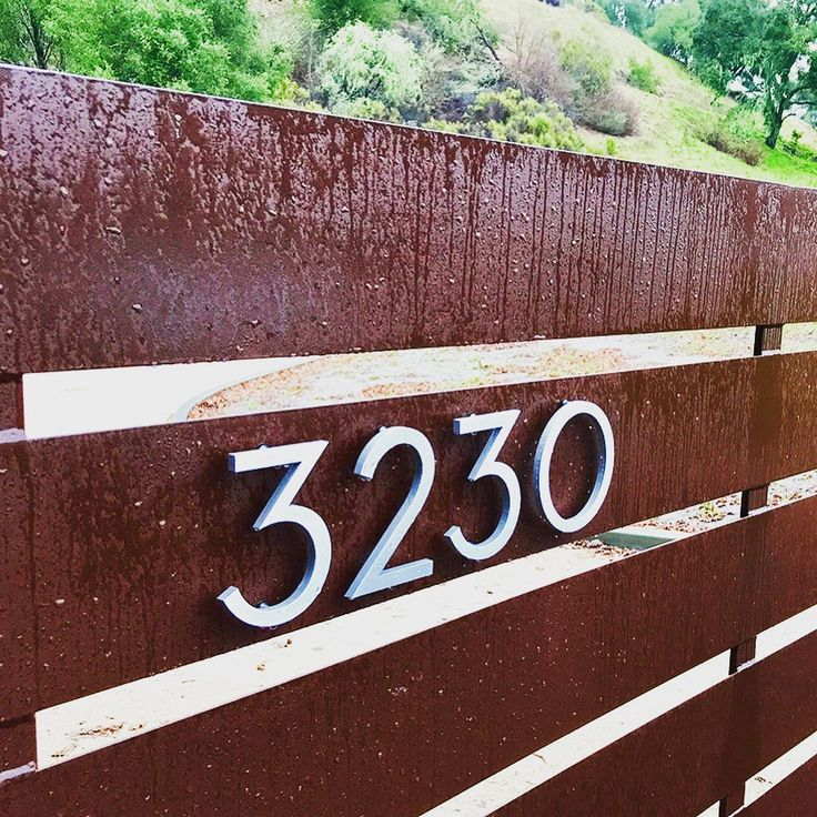 rain, sleet or snow, these palm springs digits get the job done. this install by dan and assana in paso robles is perfection.  thanks guys! #welikeyourstyle  #modernhousenumbers #modernaddressnumbers #addressnumbers #fencenumbers #fencesloveMHN #yourMHN #curbappeal #creativeaddressnumbers #palmsprings
