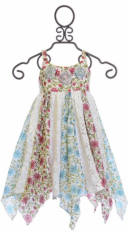 Mimi and Maggie Floral and Lace Dress for Girls