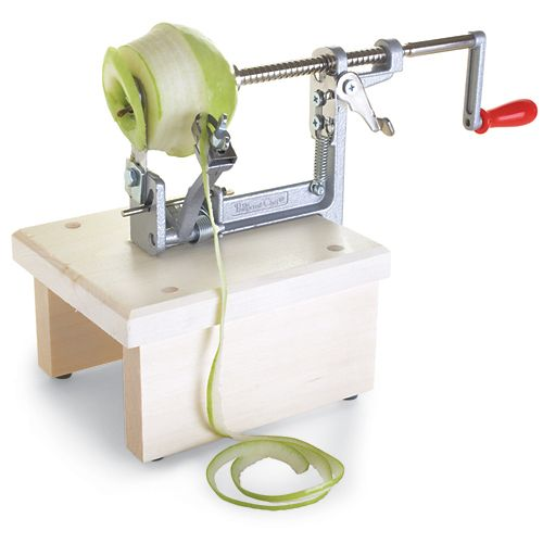 Apple Peeler/Corer/Slicer - The Pampered Chef®  Excellent Product.  I've had one for years and it makes using slices apples quick and easy.  The kids love to help too because it's fun to use.