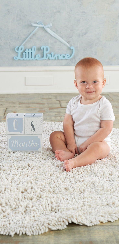 My First Milestone Little Prince Baby Age Blocks Baby Aspen Keepsake Baby Gifts Baby