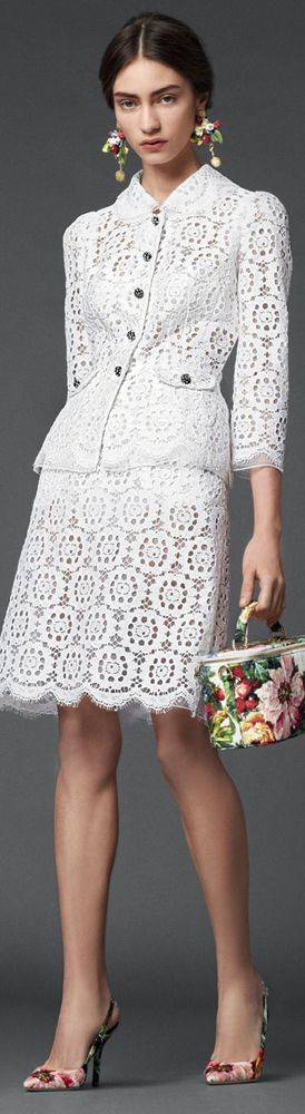 #Dolce & Gabbana FW 2014 #Bride's Going Away Outfit
