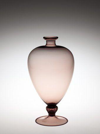 Veronese Vase by Vittorio Zecchin, designed in 1921. | Corning Museum of Glass #glass #Amethyst Glass #vase