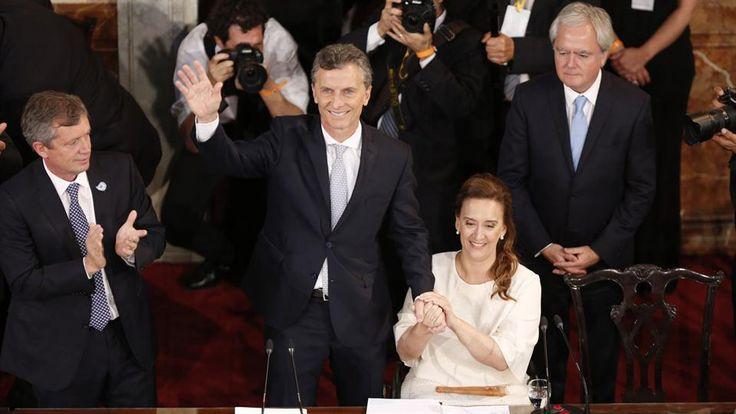 Jura del presidente electo Mauricio Macri ante la Asamblea Legislativa en el Congreso Nacional. Foto: LA NACION / Ricardo Pristupluk