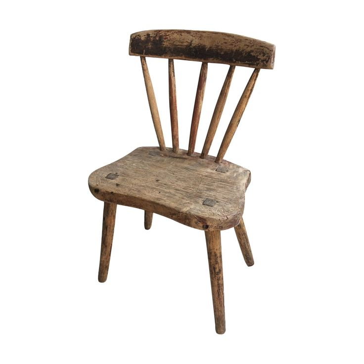 Primitive Swedish Wooden Chair from Dalarna