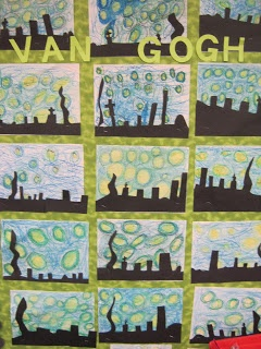 Starry night - van gogh art lesson