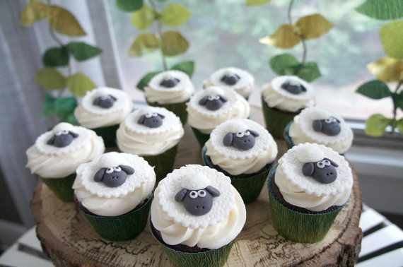 where is the green sheep? Sheep Fondant Toppers - Perfect for Cupcakes, Cookies and Other Edible Creations