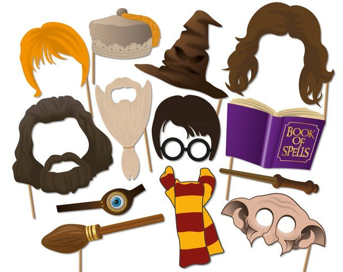 picture about Harry Potter Printable Props known as Harry Potter Image Booth Props, Wizard Image Booth Props
