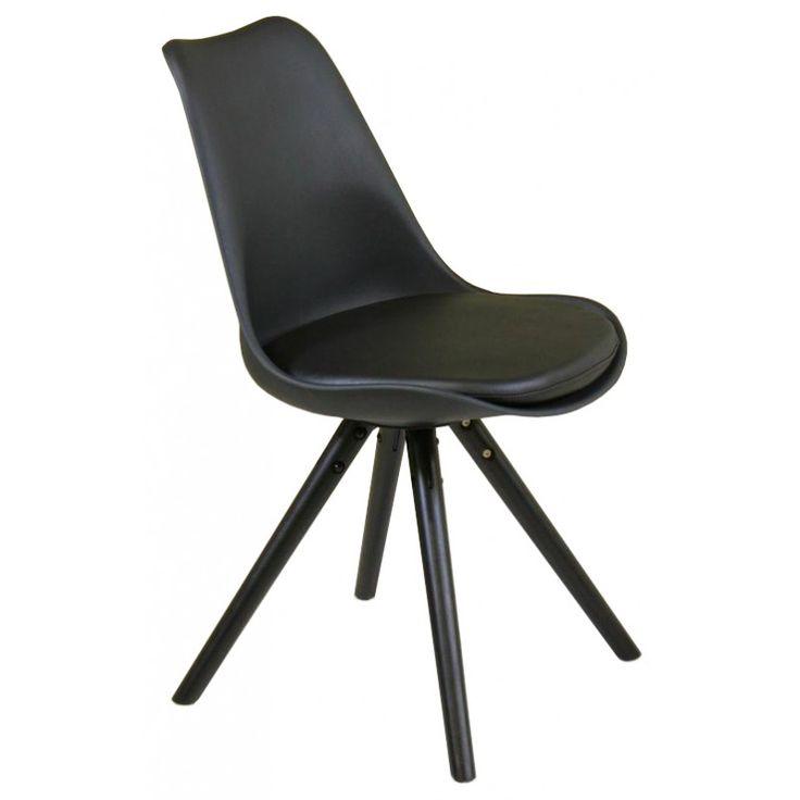 Retro stol Svart/Svart/Svart